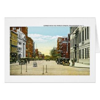 Tubería y calles de mercado de la esquina, tarjeta de felicitación