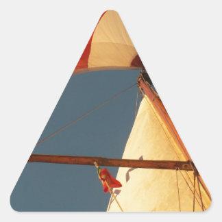Tubería y Génova Pegatina Triangular