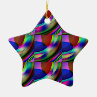Tubes of multi-colors on a Star Ornament