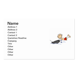 Tubing Stick Figure Double-Sided Standard Business Cards (Pack Of 100)