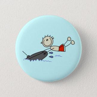 Tubing Stick Figure Pinback Button