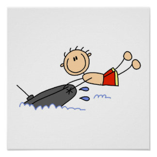 Tubing Stick Figure Poster