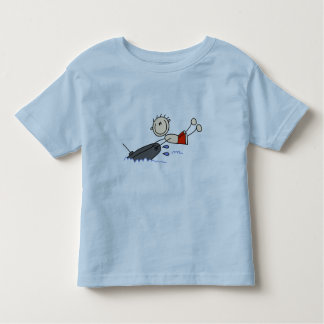 Tubing Stick Figure Toddler T-shirt