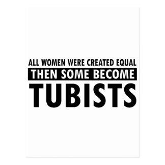 Tubist music designs postcard