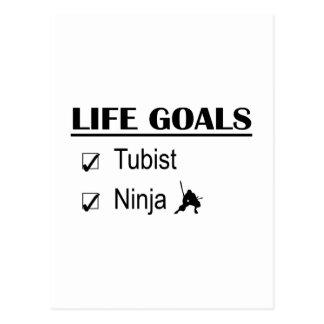 Tubist Ninja Life Goals Postcard