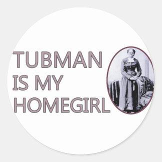 Tubman es mi homegirl pegatina redonda