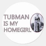 Tubman es mi homegirl pegatinas redondas