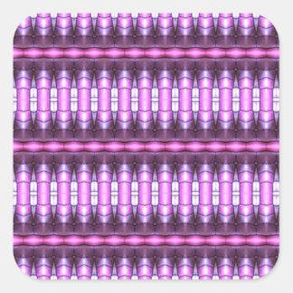 tubo abstracto del rosa del modelo pegatina cuadrada