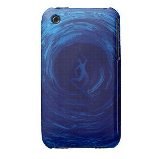 Tubo azul por el rafi talby iPhone 3 Case-Mate coberturas
