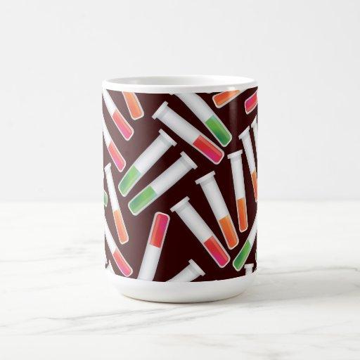 Tubo de ensayo taza de café
