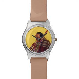 Tubo de paz del guerrero del nativo americano del  relojes