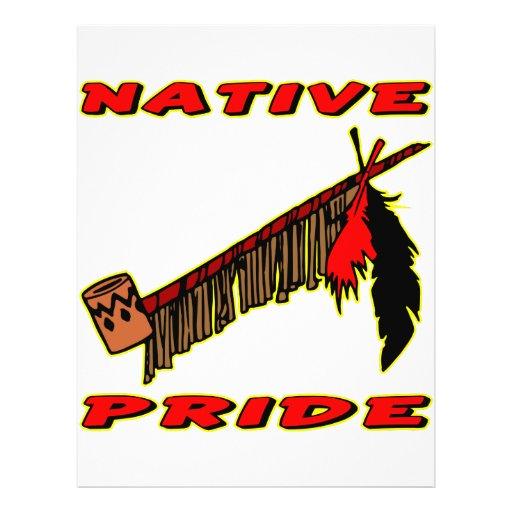 Tubo de paz nativo del tabaco del orgullo flyer a todo color