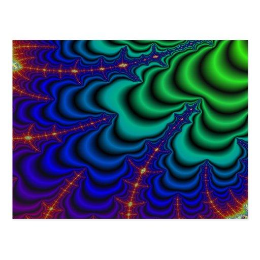 Tubo del espacio del fractal del Wormhole Postales