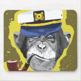 Tubo que fuma del chimpancé alfombrilla de raton