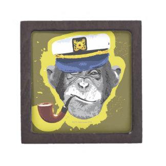 Tubo que fuma del chimpancé caja de regalo de calidad