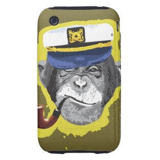 Tubo que fuma del chimpancé carcasa though para iPhone 3