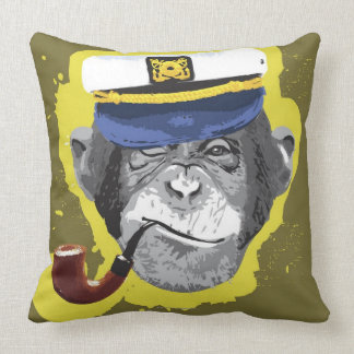 Tubo que fuma del chimpancé cojín decorativo
