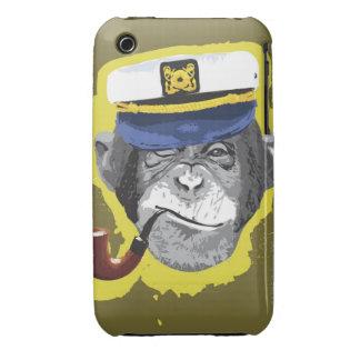 Tubo que fuma del chimpancé funda para iPhone 3 de Case-Mate