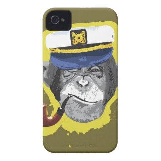 Tubo que fuma del chimpancé funda para iPhone 4