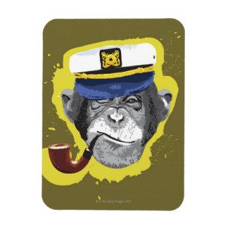 Tubo que fuma del chimpancé imanes de vinilo