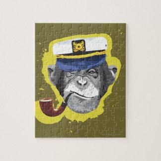 Tubo que fuma del chimpancé puzzle