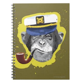 Tubo que fuma del chimpancé spiral notebooks