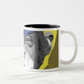 Tubo que fuma del chimpancé taza de café de dos colores