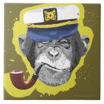 Tubo que fuma del chimpancé teja  ceramica