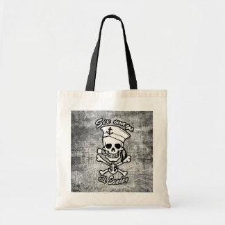Tubo que fuma del cráneo del marinero del dibujo a bolsas