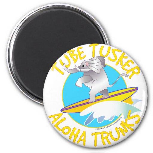 Tubo Tusker de los troncos de la hawaiana Imán De Nevera
