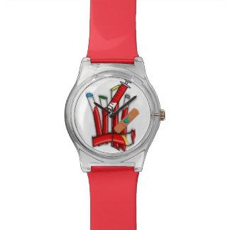 Tubos artsy de la sangre del reloj de Phlebotomist