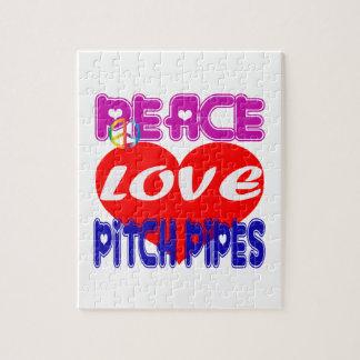 Tubos de echada del amor de la paz puzzles