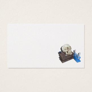 Tubos de ensayo médicos del cráneo de los libros tarjetas de visita