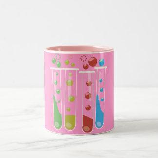 Tubos de ensayo taza de café de dos colores