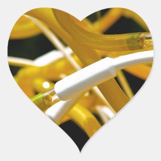 Tubos de neón pegatina en forma de corazón