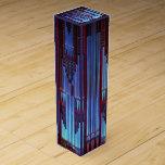 Tubos de órgano azules cajas de vino
