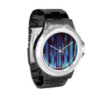 Tubos de órgano azules relojes de pulsera