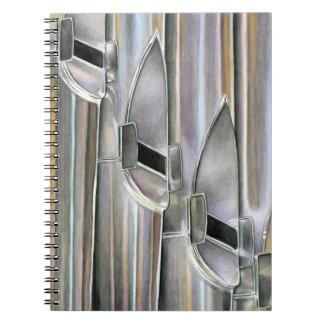 Tubos de órgano cuaderno