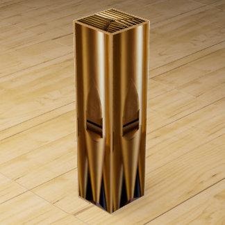 Tubos de órgano de oro caja de regalo para vino