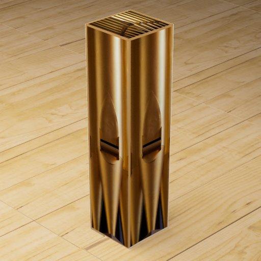 Tubos de órgano de oro caja para botella de vino
