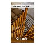 Tubos de órgano de oro tarjeta de visita