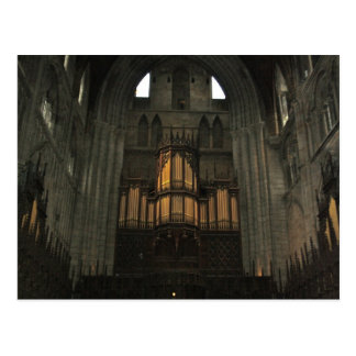 Tubos de órgano en la postal de Inglaterra de la c