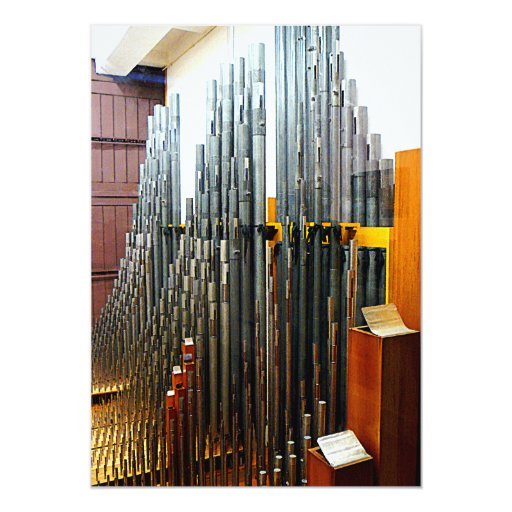 """Tubos de órgano invitación 5"""" x 7"""""""