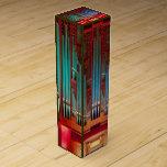 Tubos de órgano multicolores caja para botella de vino