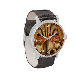 Tubos de oro con los números romanos relojes de pulsera