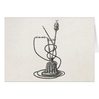 Tubos de tabaco del vintage y ejemplo de la tarjeta de felicitación