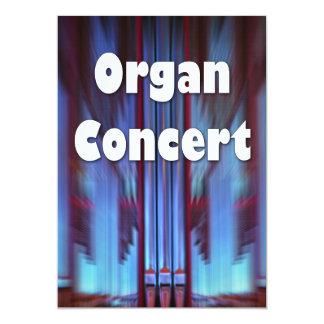 Tubos del azul de la invitación del concierto del