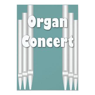 Tubos del trullo de la invitación del concierto