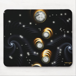 Tubos Mousepad del espiral de la gema de la luna Tapetes De Raton