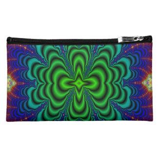 Tubos verdes de neón del espacio del fractal del